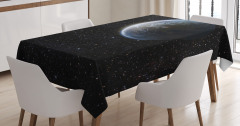 Uzay Temalı Masa Örtüsü Kozmos Gökyüzü Yıldız Evren