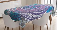 Rengarenk Çiçek Temalı Masa Örtüsü Şık Tasarım Trend