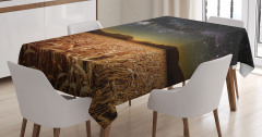 Buğday Tarlası Temalı Masa Örtüsü Yıldız Gökyüzü
