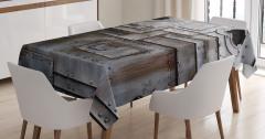 Yamalı Çelik Kapı Temalı Masa Örtüsü Şık Tasarım