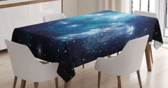 Evren ve Galaksi Desenli Masa Örtüsü Şık Tasarım