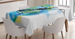 Su Kayağı Desenli Masa Örtüsü Dekoratif