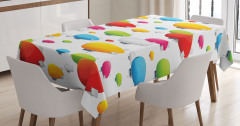 Rengarenk Zeplin Desenli Masa Örtüsü Dekoratif