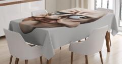 Fantastik Amorf Yakışıklı Masa Örtüsü 3D Efektli