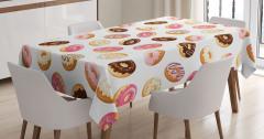 Nefis Donut Şöleni Masa Örtüsü Şık Tasarım