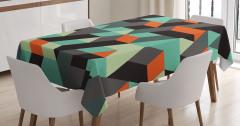 Şık Geometrik Desenli Masa Örtüsü 3D Etkili