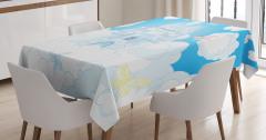 Peri Masalı Kalesi Desenli Masa Örtüsü Bulut Kelebek