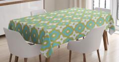Dekoratif Seramik Desenli Masa Örtüsü Şık Tasarım