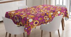 İrili Ufaklı Top Desenli Masa Örtüsü Şık Tasarım