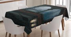 Büyülü Çayırın Mantarları Masa Örtüsü Fantastik