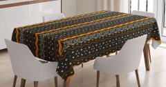 Noktalı ve Zikzaklı Desen Masa Örtüsü Dekoratif