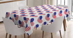 Yıldızlı Amerikan Bayrağı Masa Örtüsü Dört Temmuz