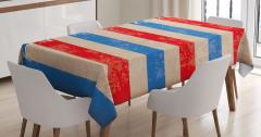Kalpli Amerikan Bayrağı Masa Örtüsü Dört Temmuz