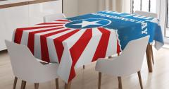 Amerikalı Kedi Desenli Masa Örtüsü Kahverengi Şık