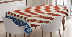 Barış İşareti Yapan Köpek Masa Örtüsü ABD Bayrağı