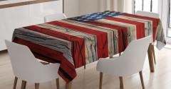 Amerikan Bayrağı Desenli Masa Örtüsü 4 Temmuz Yıldız