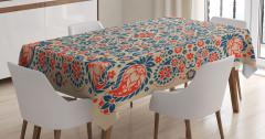 Dekoratif Çiçekli Şal Masa Örtüsü Şık Tasarım Trend