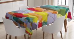 Rengarenk Şemsiyeler Temalı Masa Örtüsü Şık Tasarım
