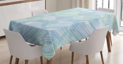 Mavi Yeşil Balık Desenli Masa Örtüsü Dekoratif Trend