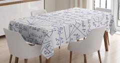 Matematik ve Geometri Desenli Masa Örtüsü Trend