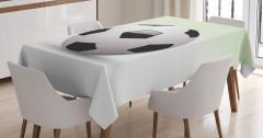 3D Etkili Futbol Topu Masa Örtüsü Beyaz Arka Plan