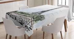 Eyfel Kulesi ve Tekneler Masa Örtüsü Paris