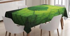 Yaprağın Arkası ve Önü Masa Örtüsü Yeşil Doğa