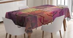 Kırk Yama Mandala Desenli Masa Örtüsü Çiçekli Şık