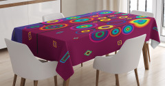 Daire Ağacı Desenli Masa Örtüsü Dekoratif Şık Trend