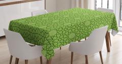 Dekoratif Yıldız Desenli Masa Örtüsü Şık Yeşil