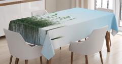 Çimen ve Mavi Gökyüzü Masa Örtüsü Dekoratif Şık