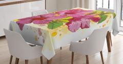Amber Çiçeği Desenli Masa Örtüsü Dekoratif Çeyizlik