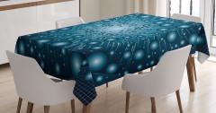 Işık Patlaması Desenli Masa Örtüsü Dekoratif Şık