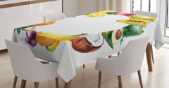 Meyvelerden Çember Desenli Masa Örtüsü Natürmort