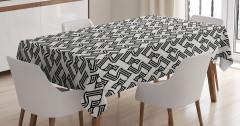 Stilize Beş Rakamı Desenli Masa Örtüsü Dekoratif