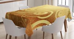 Altın Spiral Desenli Masa Örtüsü Dekoratif