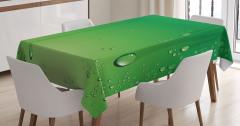 Yeşil Zemin Üzerinde Damlalar Masa Örtüsü Dekoratif