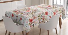 Bahar Çiçekleri Desenli Masa Örtüsü Rengarenk