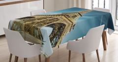 Eyfel Kulesi Manzaralı Masa Örtüsü Paris Temalı