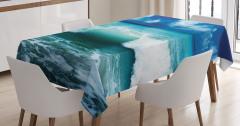 Okyanus Dalgaları Temalı Masa Örtüsü Turkuaz Gökyüzü