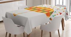 Sanat Temalı Masa Örtüsü Rengarenk Sevimli Şemsiye