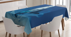 Peri Masalı Temalı Masa Örtüsü Deniz Kızı Desenli