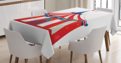 Çocuklar İçin Masa Örtüsü Sirk Kırmızı ve Beyaz