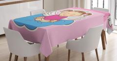 Çocuklar İçin Masa Örtüsü Sevimli Vaftiz Temalı