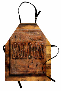 Wooden Carving Style Saloon Apron