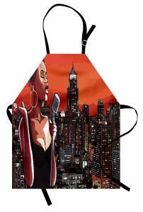 Jazz Singer on New York Apron