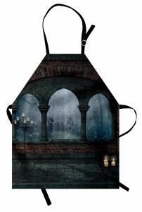 Mittelalterliches Schloss in der Nacht Kochschürze