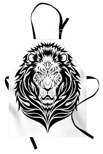 Löwe-Porträt Kochschürze