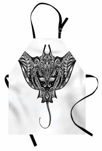 Cramp Fisch Stammes-Stil Kochschürze