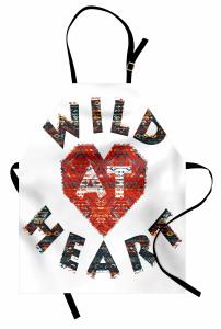 Wild im Herzen Azteken Kochschürze